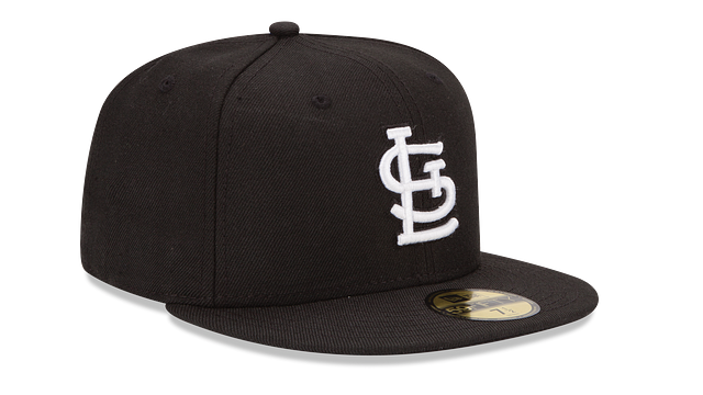 ST. LOUIS CARDINALS BLACK & WHITE 59FIFTY FITTED