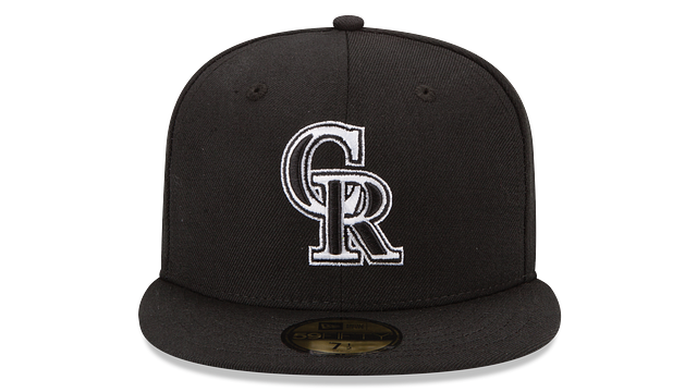 COLORADO ROCKIES BLACK & WHITE 59FIFTY FITTED