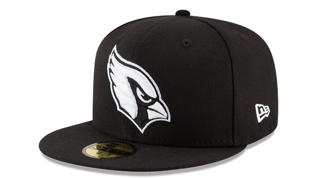 ARIZONA CARDINALS BLACK & WHITE 59FIFTY FITTED