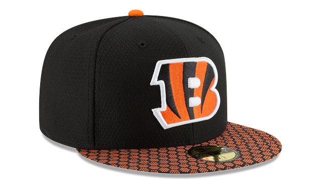 CINCINNATI BENGALS OFFICIAL SIDELINE 59FIFTY FITTED