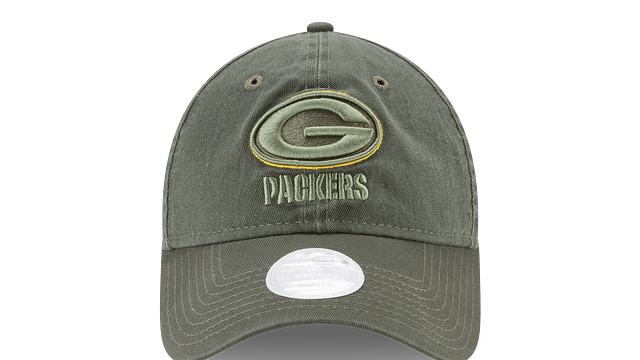 WOMENS GREEN BAY PACKERS SALUTE TO SERVICE 9TWENTY ADJUSTABLE