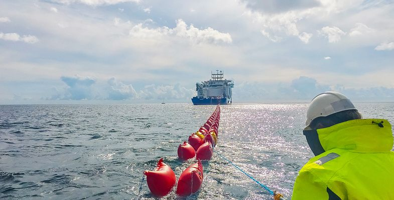 Turnkey high voltage cable installation offshore at Kriegers Flak