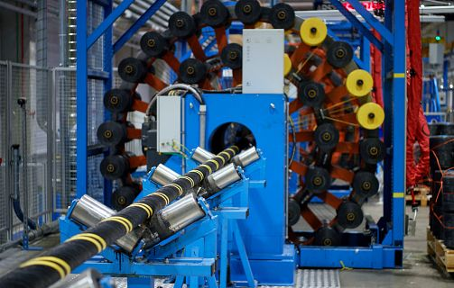 HV Offshore cable in last stages of manufacturing