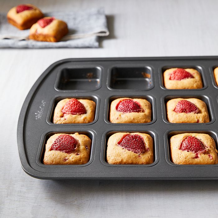 Strawberry Blondies made in a Brownie Pan