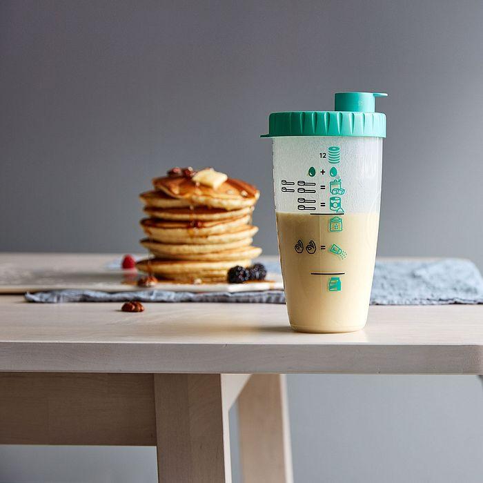 Pancakes in a Pancake Shaker Bottle