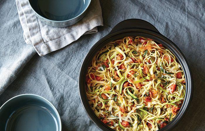 Bruschetta & Zucchini Pasta
