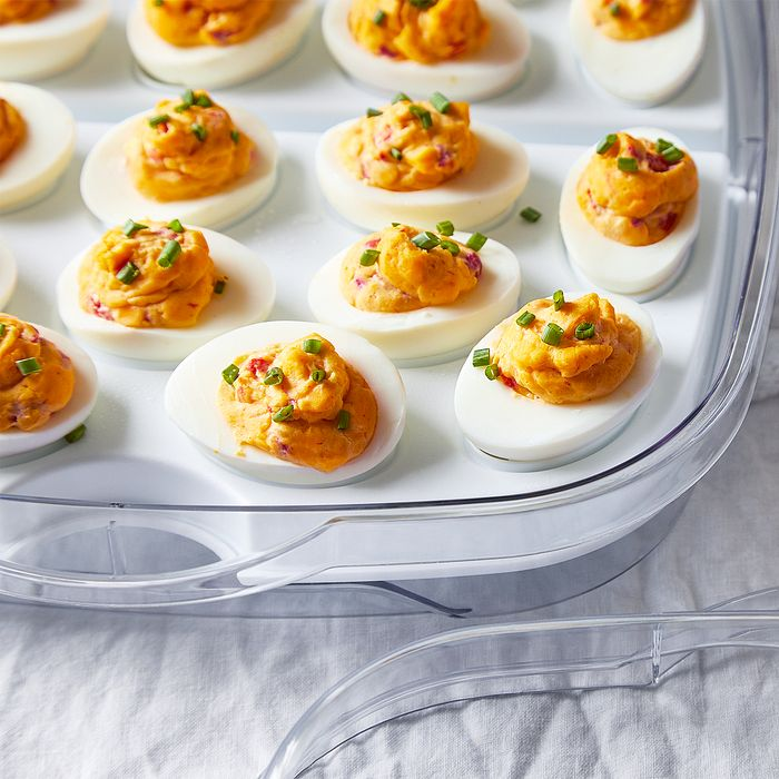 Quick Cooker Pimento Cheese Deviled Eggs