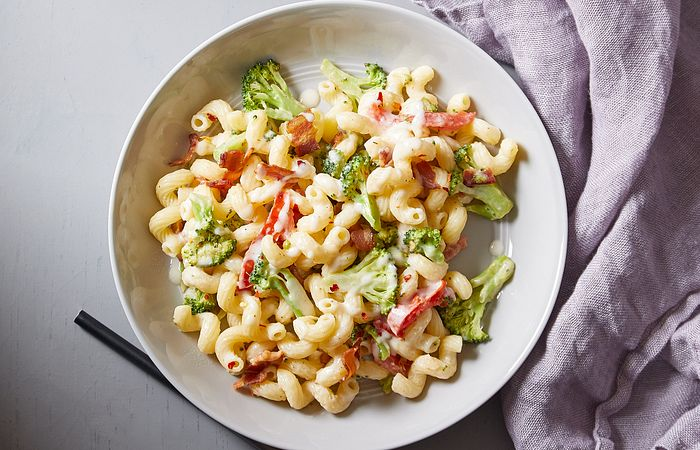 Pasta Romano With Bacon & Broccoli