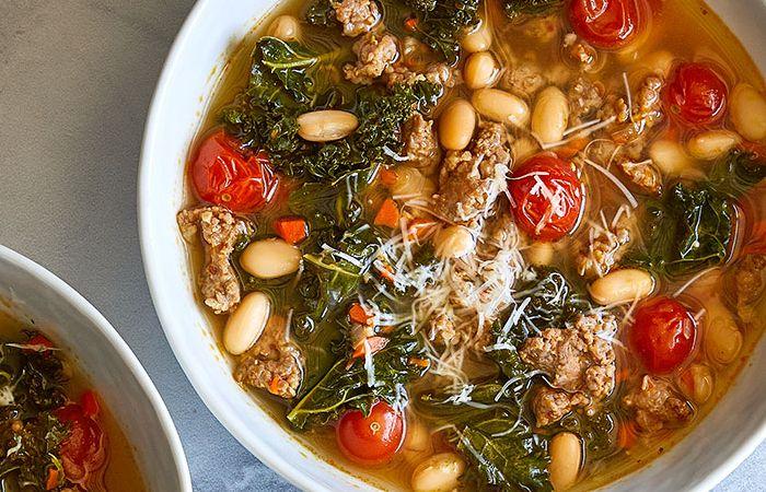 White Bean, Kale & Sausage Stew