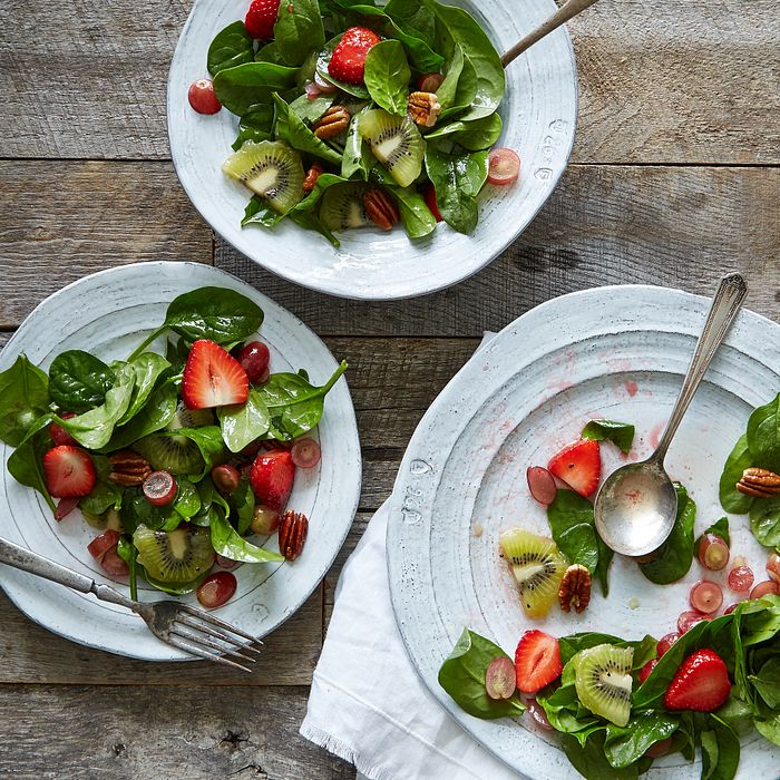Summer Fruit and Spinach Salad
