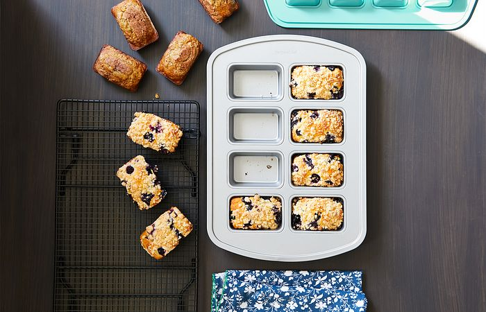 homemade breads in a mini loaf pan