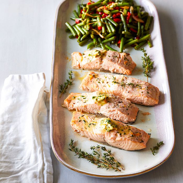 Quick Cooker Citrus-Herb Salmon & Green Beans