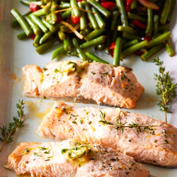 Quick Cooker Citrus-Herb Salmon & Green Beans