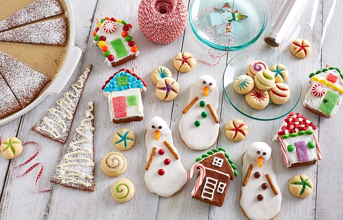 Cookies decorated by kids