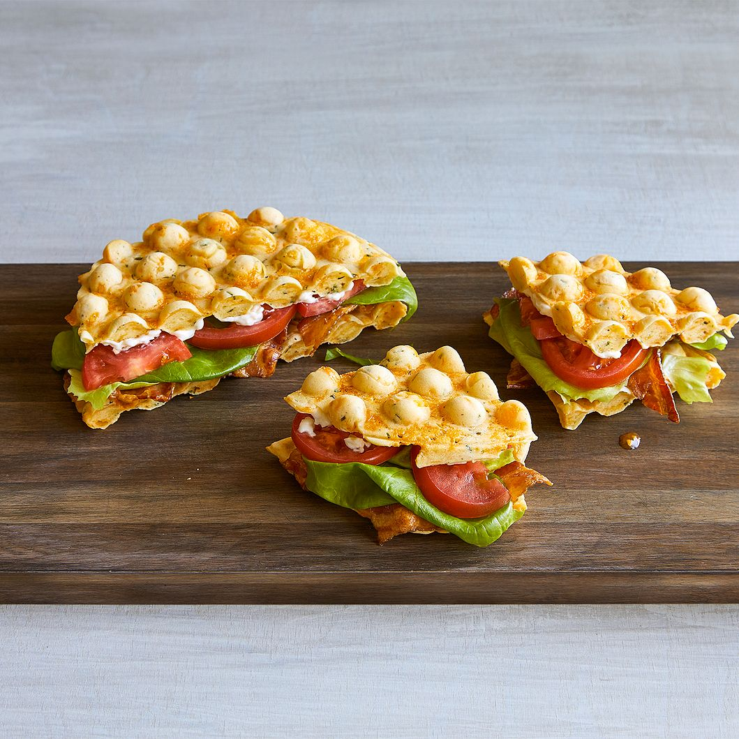Cheddar Chive Bubble Waffle BLT