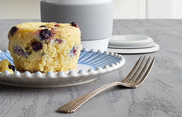 Blueberry-Lemon Microwave Muffin