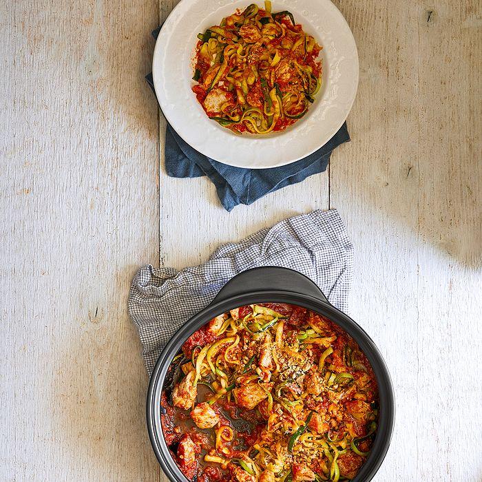 One-Pot Chicken Parmesan & Zucchini Noodles