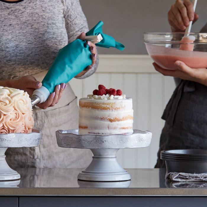 Cake Garnished With Fruit