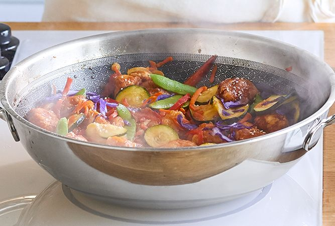 Stainless Steel Nonstick Wok