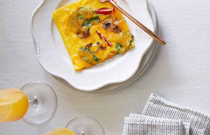 Loaded Vegetable Omelet