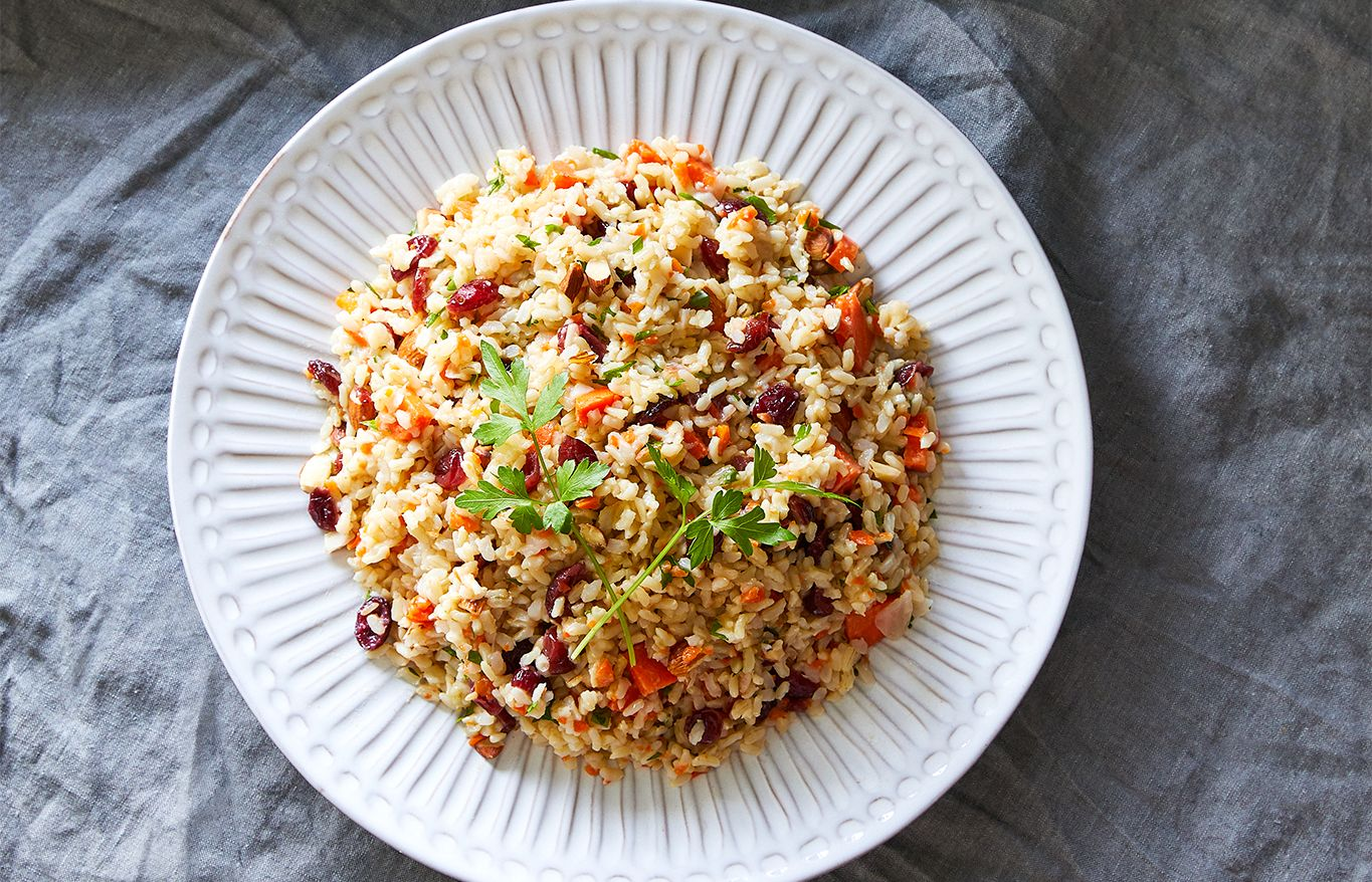 Quick Cooker Brown Rice Pilaf