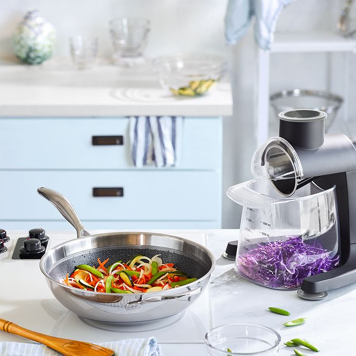Stainless Steel Nonstick Wok & Quick Prep Food Grater