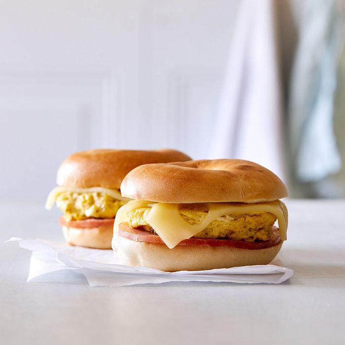 Ham & Swiss Breakfast Bagels
