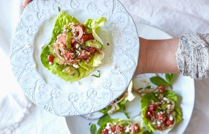 Grilled Watermelon Lettuce Wraps