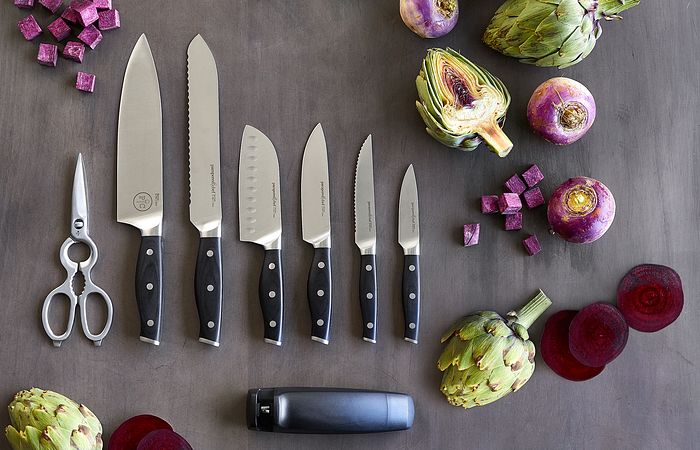 Keeping your knives sharp will make cooking safer and easier.