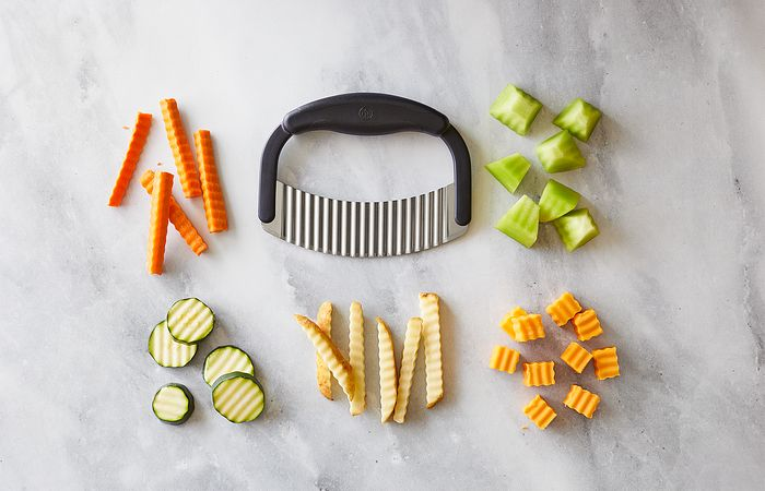 crinkle cutter with veggies