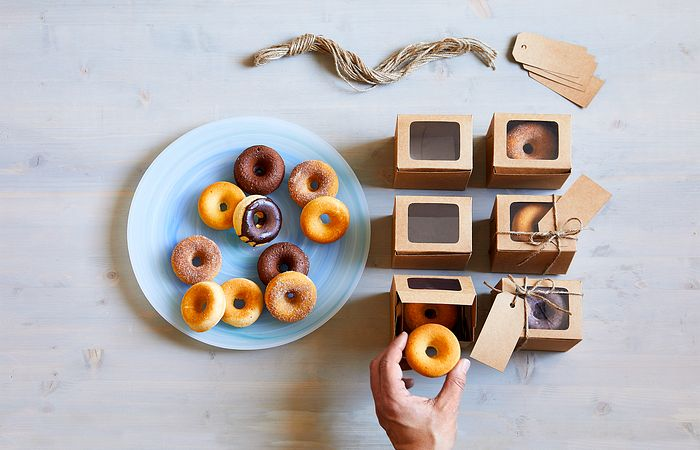 Homemade Donuts in Gift Boxes