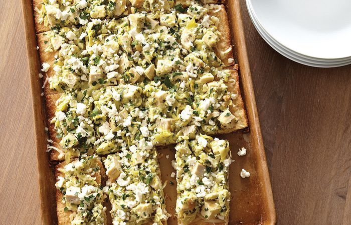 Greek Chicken & Artichoke Flatbread