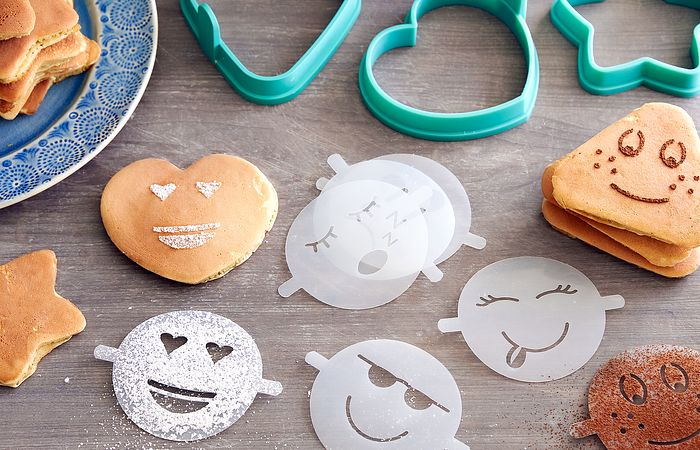 Easy Pancake Molds and Emoji Stencils