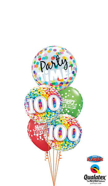 49565--23636--52962--100th-Bday-Confetti-Dots-Party-Time-Bubble-Staggered