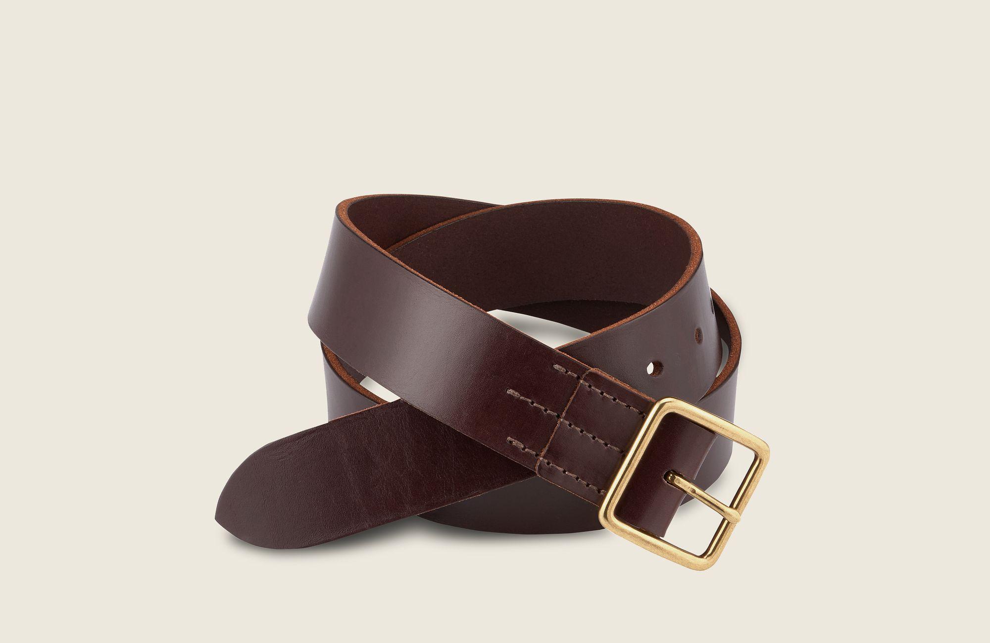 Vegetable-Tanned Leather Belt image number 0