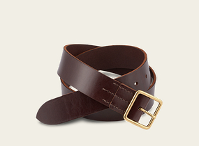 Dark Brown Vegetable Tanned Leather Belt product photo