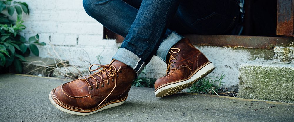 Men's Classic Moc 6-Inch Boot in Brown Leather 1907 | Red Wing Shoes