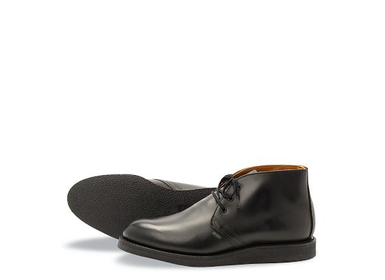 2d657798 Men's Postman Chukka in Black Leather 9196 | Red Wing Heritage
