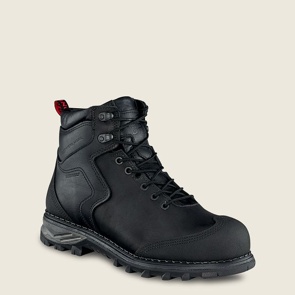 Black Red Wing Work Boots