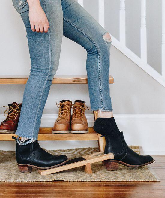 Solid Oak Boot Jack
