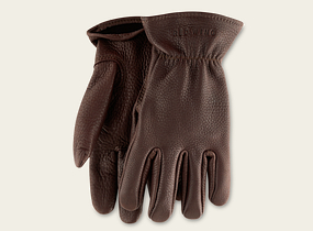 Brown Buckskin Leather Unlined Glove product photo