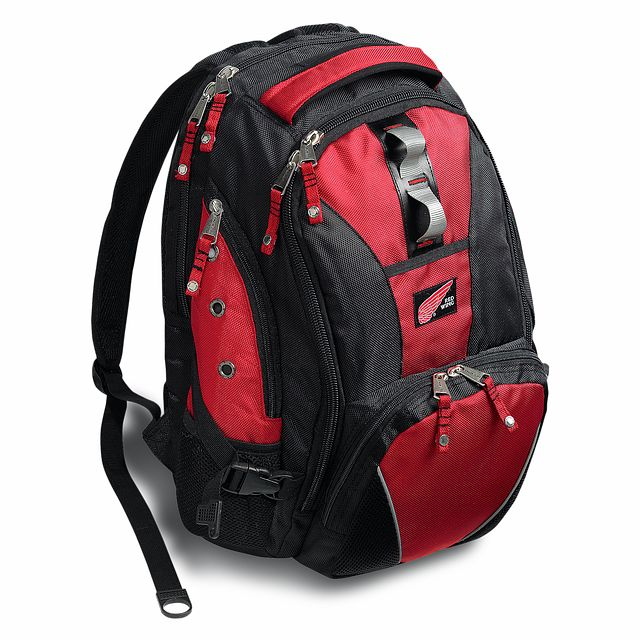 Red Wing Safety Boots Unisex Backpack Black Red