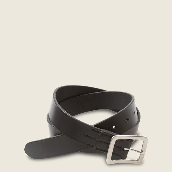 Narrow Vegetable-Tanned Leather Belt