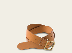 Natural Tan Vegetable Tanned Leather Belt product photo
