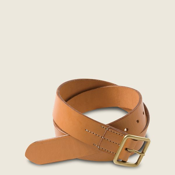 Vegetable-Tanned Leather Belt Product image - view 1
