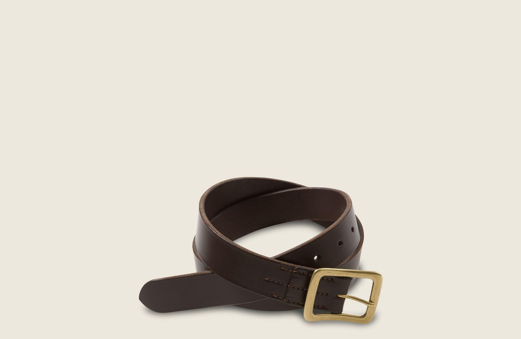 Narrow Vegetable-Tanned Leather Belt image number 0