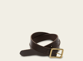 Dark Brown Narrow Vegetable Tanned Leather Belt product photo