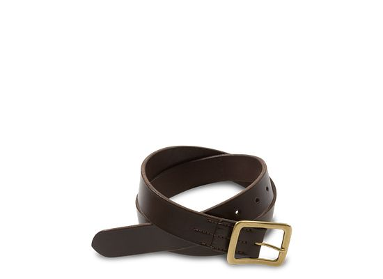 b1b0ad3a Dark Brown Narrow Vegetable Tanned Leather Belt 96561 | Red Wing ...