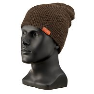 Navigate to CAP, BROWN HEATHER WOOL KNIT product image