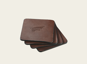 Pioneer Leather Coasters product photo